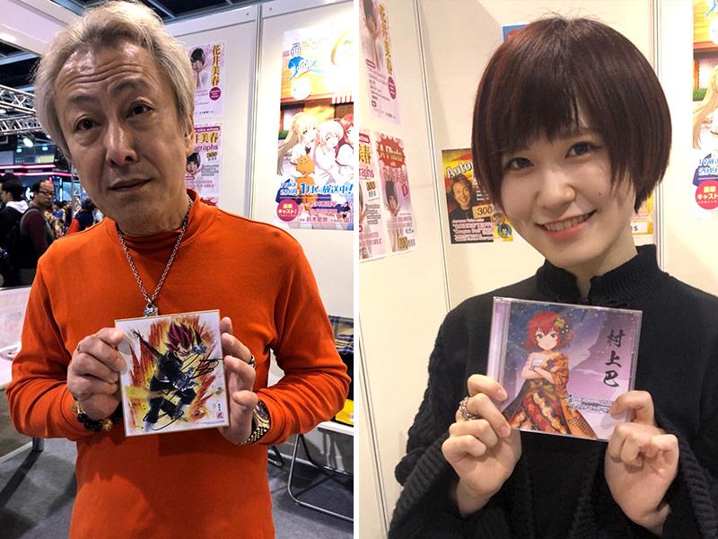 ベジータ&堀川りょう+村上巴&花井美春。それぞれの思い入れも特別なキャラアイテムと共に一枚。